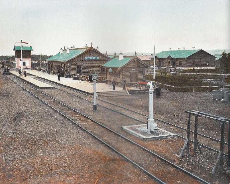 Первозданная железнодорожная Россия в цвете эпохи царской Империи глазами неизвестного фотографа, изображение №11