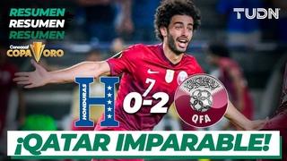 Resumen y goles   Honduras 0-2 Qatar   Copa Oro 2021   Grupo C   TUDN