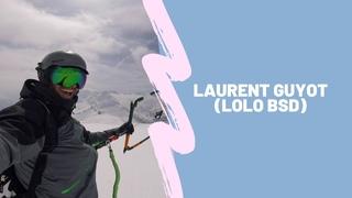 Laurent Guyot (Lolo Bsd) -  Полеты в горах, сноукайтинг, лэндбординг