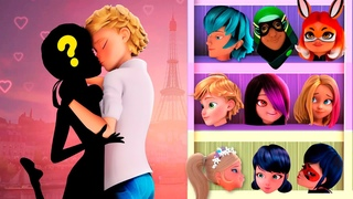 Wrong Love Adrien and Marinette Ladybug and Cat noir wrong heads puzzle