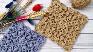 💥Плед единым полотном узором 3D💥Узор для пледа и декора крючком💥Plaid crochet pattern 3 D💥Не мотив!
