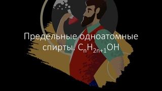 Онлайн репетитор по химии (ЕГЭ, ОГЭ, ВПР): Предельные одноатомные спирты.