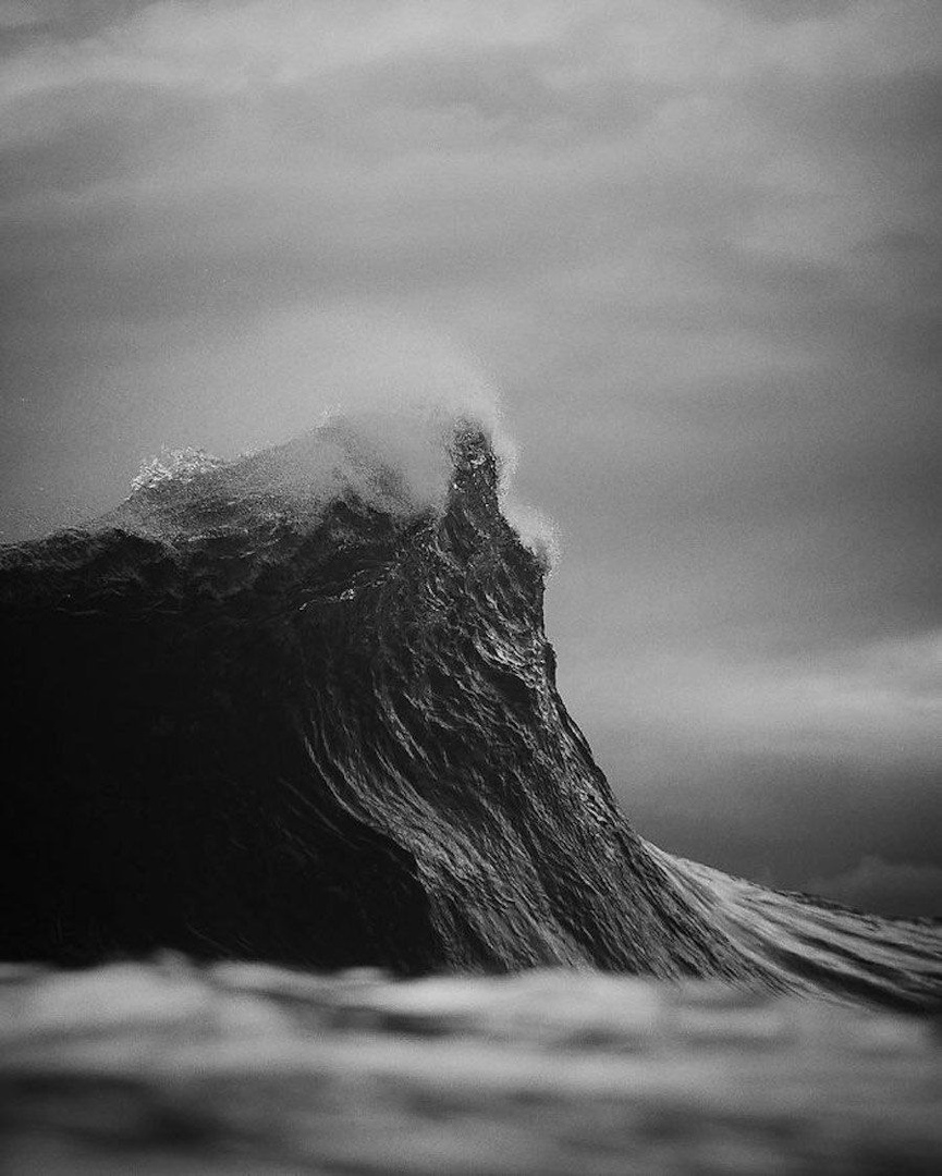 Photographs of Waves Looking Like Mountains by Lloyd Meudell