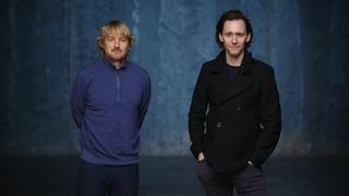 Tom Hiddleston and Owen Wilson introducing Loki