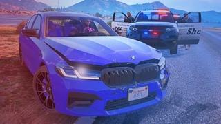 🚔 ПЕРЕСТРЕЛКИ и ПОГОНИ полиции в GTA 5!