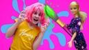 Видео про Салон Красоты. Кукла Барби - горе стилист! Игры в куклы для девочек и Плей До пластилин
