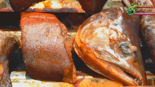 Горбуша и хариус горячего копчения, рыба горячего копчения.