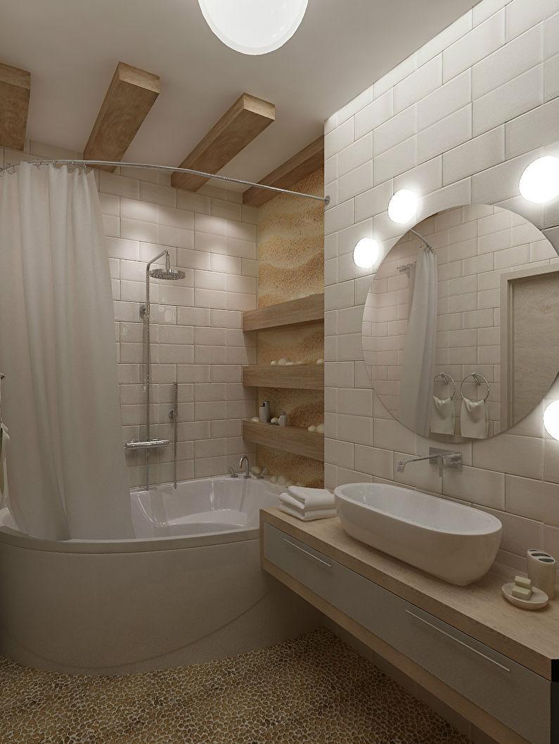Ванная комната 6 квадратов в бежевых тонах