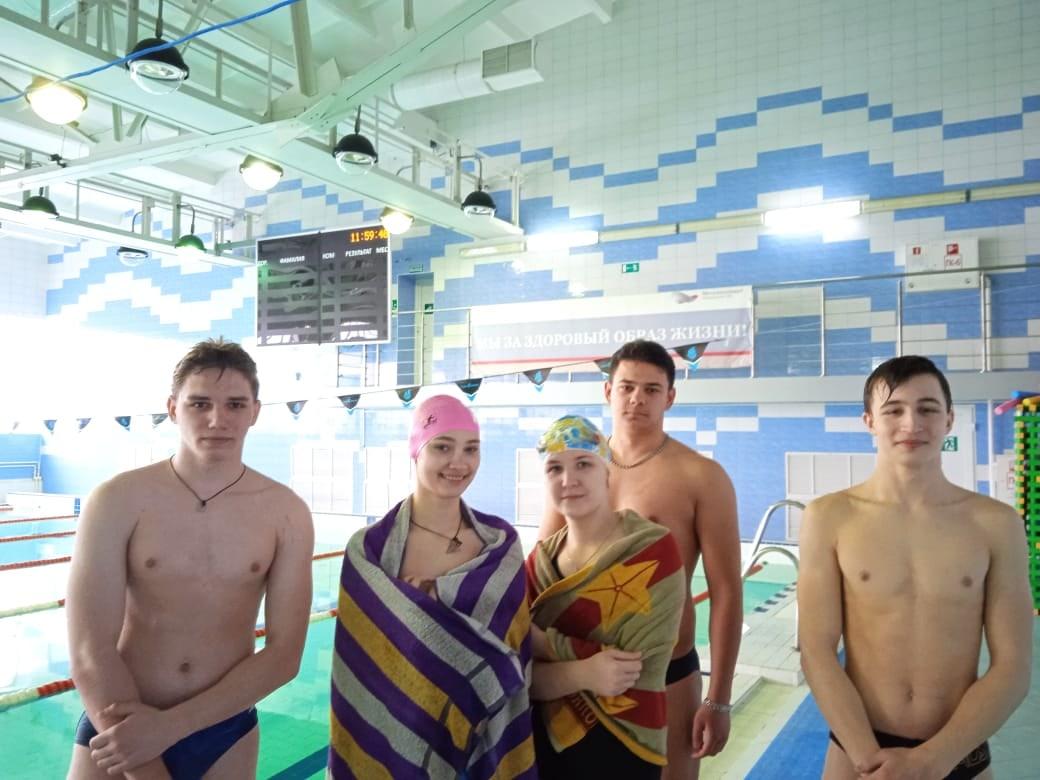 1 место в соревнованиях по плаванию в рамках городской Универсиады среди ВУЗов и ССУзов