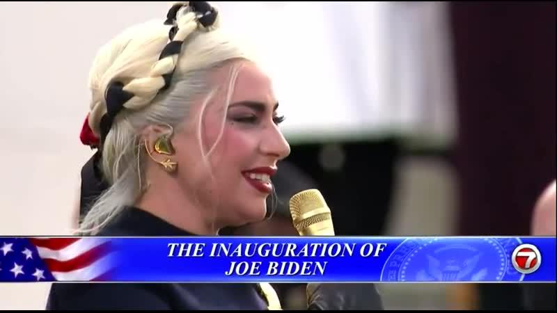 20 Января Леди Гага исполняет национальный гимн США на инаугурации Джо Байдена в Вашингтоне США