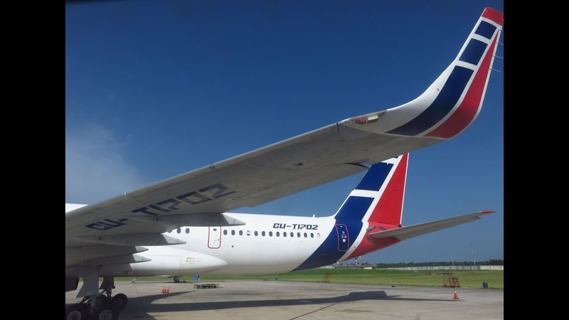 Cubana Tu 204 100E Flight from Havana José Martí HAV to Santo Domingo Las Americas Int'l SDQ