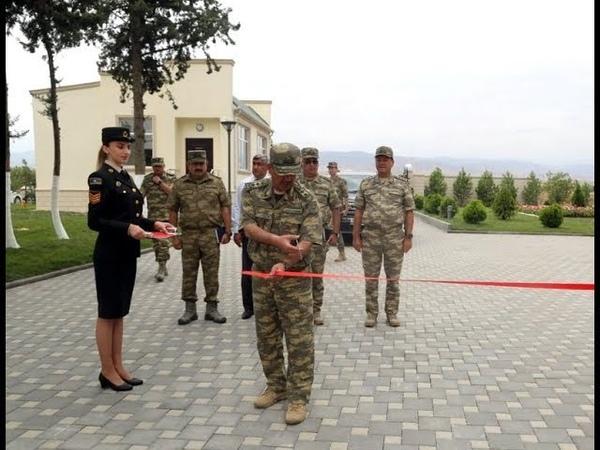 Müdafiə naziri cəbhəboyu zonada yeni tikilən hərbi hospitalın açılışında olub - 13.08.2019