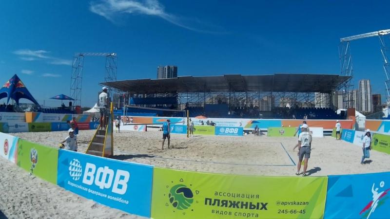 Beach volley Russia Kazan 2018 M 10 Khudyakov Bykanov and Bogatov Rakusov