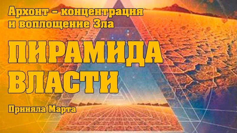 ПИРАМИДА ВЛАСТИ АРХОНТ Абсолютный Ченнелинг