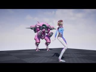 D.vas secret out of mech dance emote