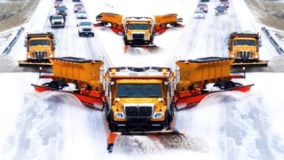 EPIC Snow Blower Removal Machines & Powerful Snow Blower ! Extreme Fast Snow Plowing