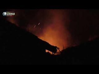 Окраина Донецка под тяжелым обстрелом, горят дома мирных жителей