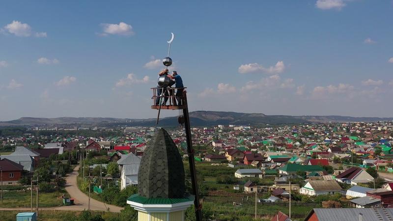 Установка полумесяца мечеть Мухсин г Октябрьский