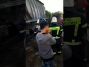 В Калининграде поезд сбил грузовик