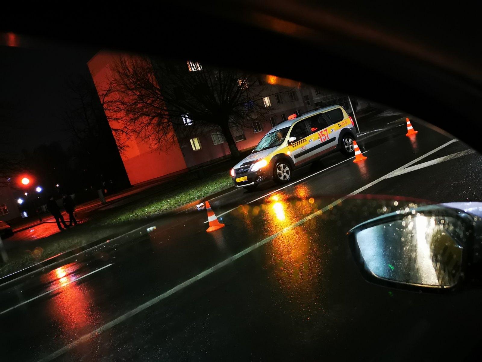 В Пинске водитель такси сбил женщину на переходе