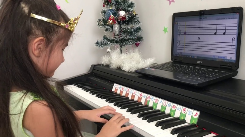 SOFT MOZART Winter Recital 2019 2020 Two cats P5 plays Daria 4 years