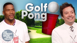 Golf Pong with Michael Strahan   The Tonight Show Starring Jimmy Fallon