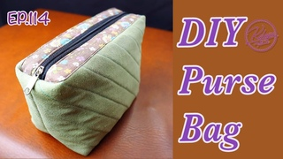 DIY Makeup pouch bag |  กระเป๋าผ้า | Cosmetics bag tutorial |  バッグを縫う | Como hacer una bolsa