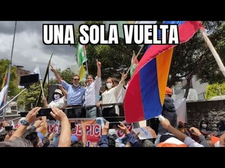 Ecuador - Todo un pueblo en las calles defendiendo al binomio de la Esperanza
