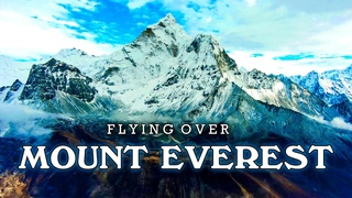 Flying Over Everest ★ Himalayas ★ Nepal ★ With ♫ ♬ Calming Music ||► 8 min