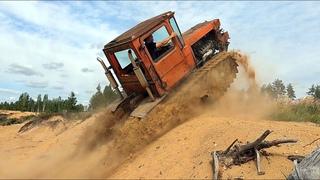 Самый быстрый гусеничный трактор. ДТ75 на японском V8