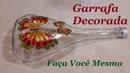 Reciclando Garrafas de vidro GARRAFA DECORADA COM BORBOLETAS @luci buzo
