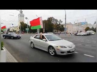 Митинг за Лукашенко Автопробег в Гомеле