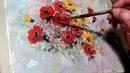 Hedwig's Art little fantasy flowers watercolor