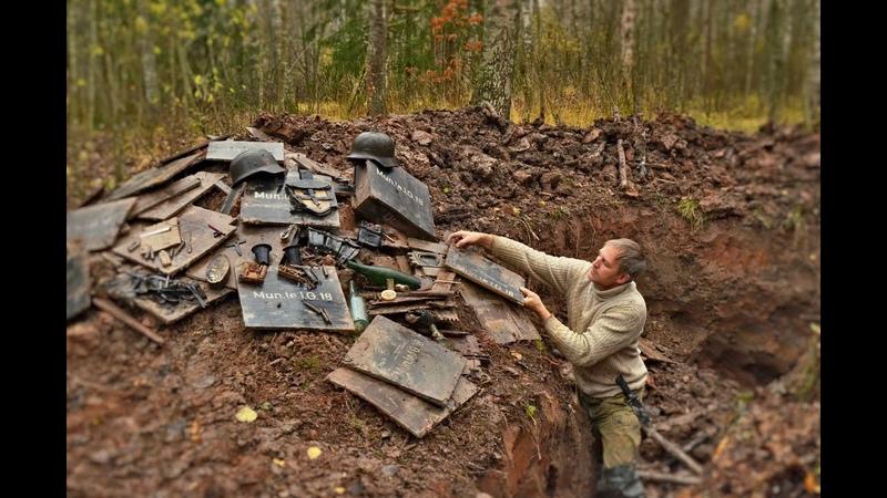 Блиндажи опять радуют находками German dugouts are full of relics