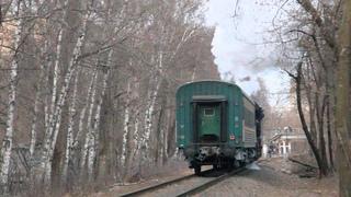 Паровоз Л-3653 на перегоне Подмосковная - Серебряный Бор