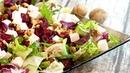Бюджетный салат из свеклы с сыром и орехами! Салат без майонеза на праздничный стол за 5 минут!