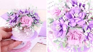 Как я собираю мини букетик цветов из фоамирана  #Shorts