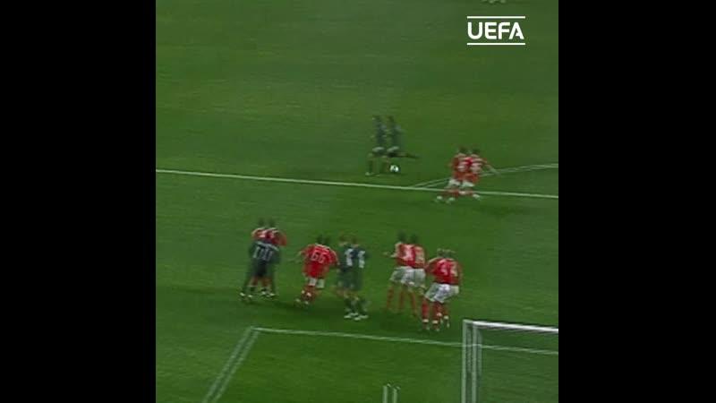 Сергей Игнашевич забивает Бенфике в Кубке УЕФА-2004/05