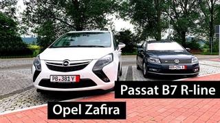 Упакованный VW Passat B7 R-line и семейный Opel Zafira Tourer из Германии
