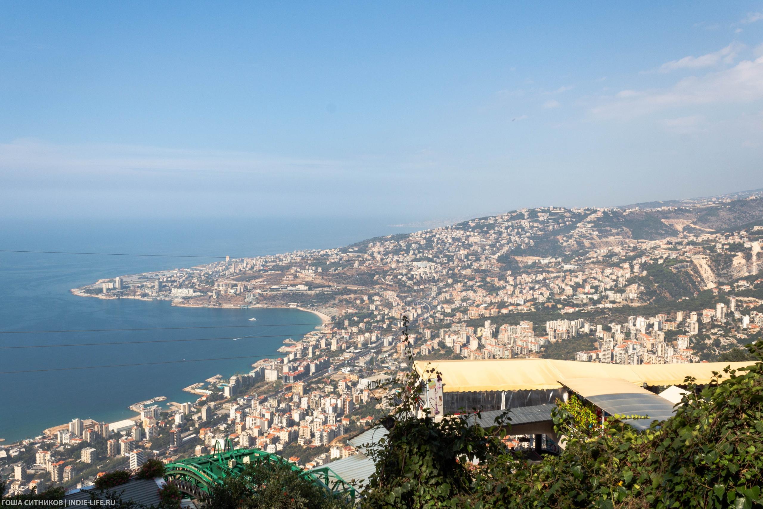 Ливан. Вид сверху