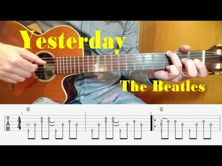 Yesterday - Beatles - Fingerstyle Guitar with tabs