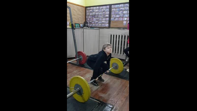 Юрчиков Юра тяга становая 45 кг