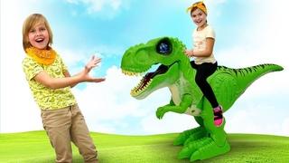 Крутые игрушки для детей - новые роботы динозавры ROBO ALIVE: давай играть в игры вместе!