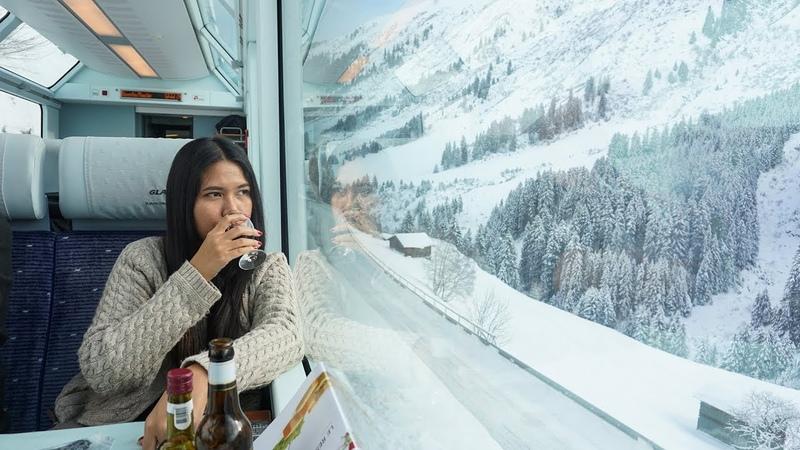 Glacier Express in Winter Snow From Zermatt to St Moritz Interrail Eurail