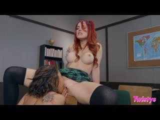 Lesbian, school fantasies, uniform, 69, small ass, tattoo, athletic, asian, bald pussy, innie pussy, red head, big tits, 1080p