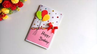 Beautiful Handmade Birthday Card idea -DIY GREETING cards for birthday