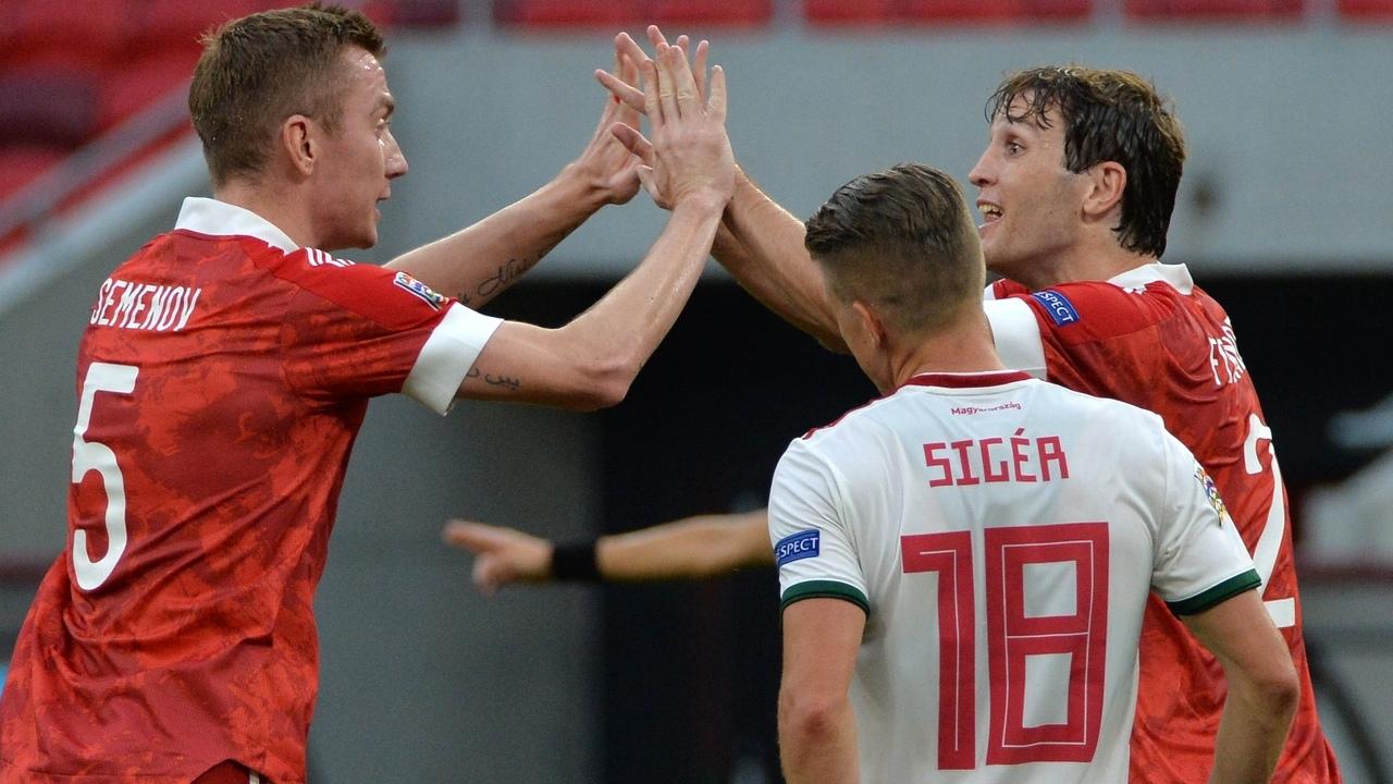 Сборная Венгрии - сборная России, 2:3. Лига наций