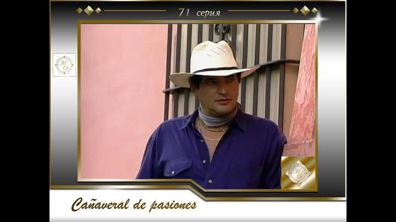 В плену страсти 71 серия Cañaveral de pasiones Capítulo 71