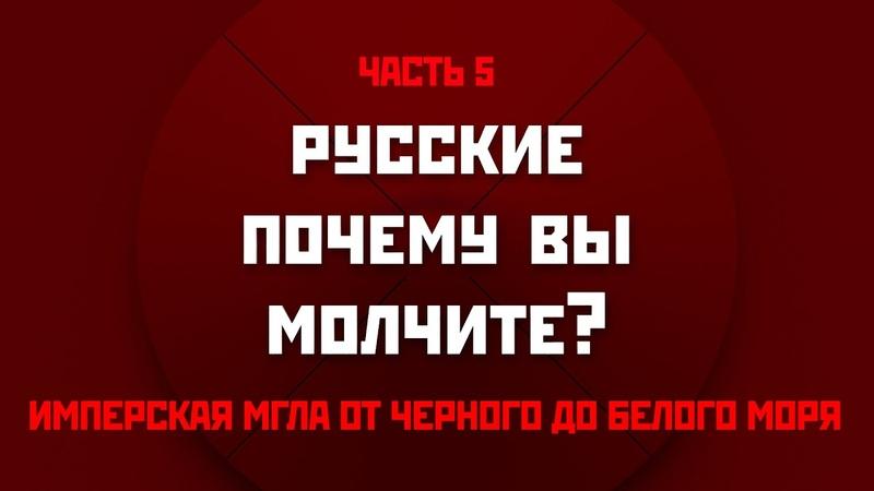Русские почему вы молчите Пятая часть Имперская мгла от Черного до Белого моря