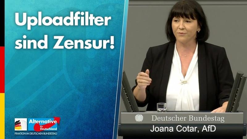 Uploadfilter sind Zensur Joana Cotar AfD Fraktion im Bundestag